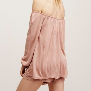 Free People Pants - Free People Off-the-shoulder Romper