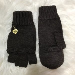 Juicy Couture Brown Wool Convertible Mittens