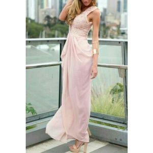 Breaux-Mode Dresses - 💛 [Medium: Last 1] Spring Boho Blush Maxi