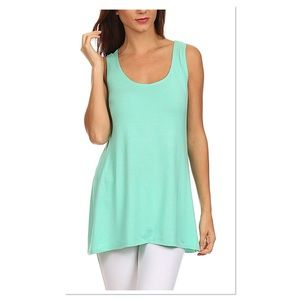 Mint Scoop Neck Tank