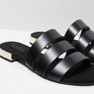 Zara Shoes - NWT Zara flat shoes with metal heel!🔥🔥😘