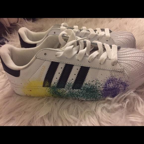 new arrival ce16b 3c285 Adidas Shoes - Adidas superstar color splash