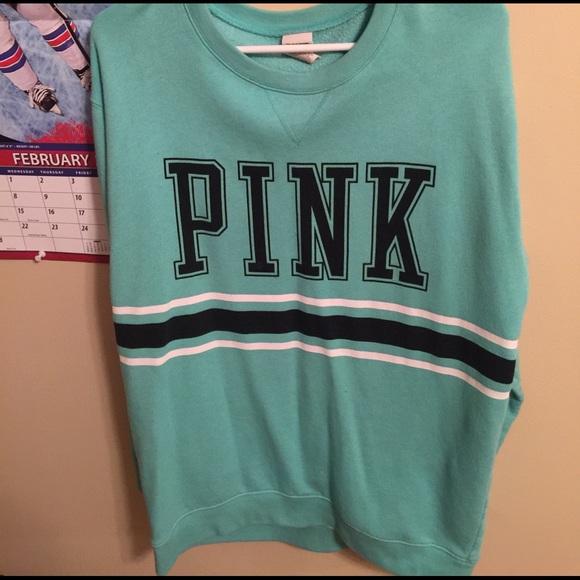 78% off PINK Victoria's Secret Tops - VS PINK crew neck sweatshirt ...