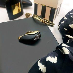 Rachel Zoe Enamel Claw Ring
