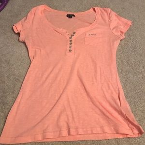 Guess Tops - Guess Button Up Scoop Neck Shirt