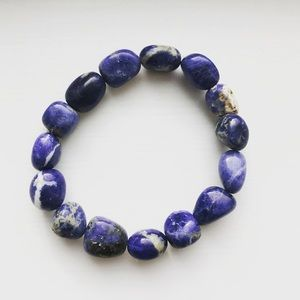 Jewelry - Blue stone/rock elastic stretch bracelet