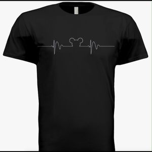 Other - NWOT Mickey Mouse heartbeat t-shirt. Black