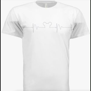 Other - NWOT Mickey Mouse heartbeat t-shirt. White