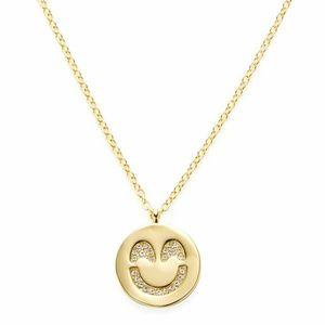 Kate Spade Pave Smiling Emoji Pendant Necklace