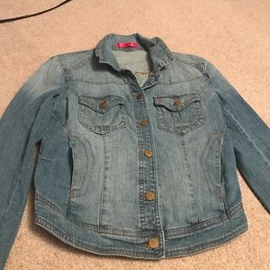 Tinseltown Jackets & Blazers - Cropped Denim Jacket