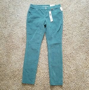 Maurices Green Cord Flex Jeggings