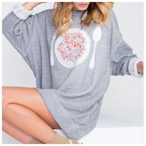 Wildfox® Disco Snack Roadtrip Sweater [grey]