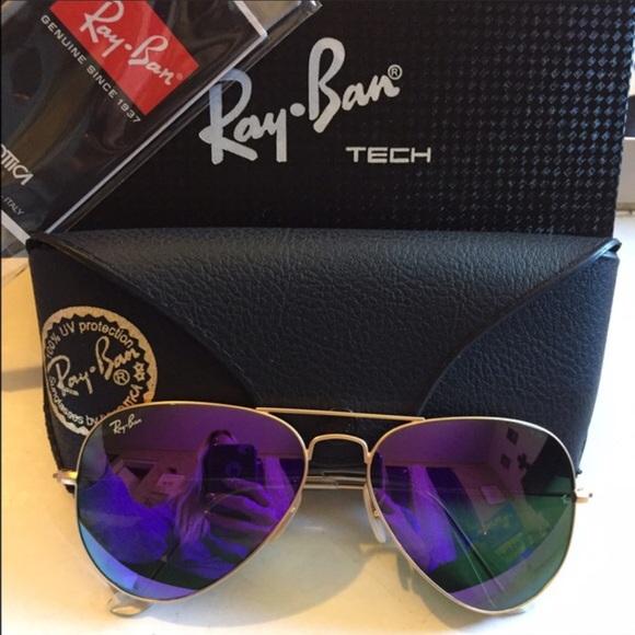 6fbd577cb4 Brand new Raybans rb3025 purple flash mirror. NWT. Ray-Ban