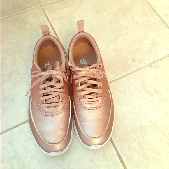 11c96e0d0eb lululemon athletica Shoes - Nike Air Max Thea Red BroNze Rose Gold 7.5