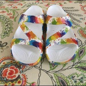 Dawgs Shoes - Dawgs Rainbow Splatter