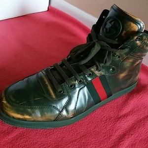 Gucci Other - Men's Authentic Gucci Camo Hightop #343093 11 G