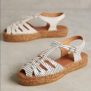 Anthropologie Shoes - Anthropologie Caged Striped Espadrilles