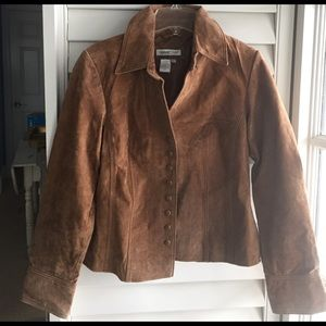 Coldwater Creek Brown Leather Jacket- SZ-8