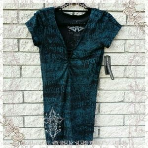 Affliction Tops - Affliction top  large    nwt