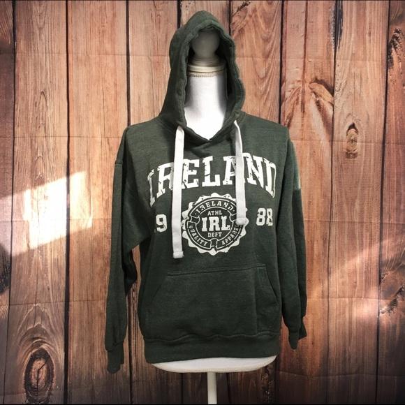 6d68eb1c 🍀St. Patricks Day Ireland Women Green Hoodie Sz M.  M_58adc28f5c12f88aaf009a5e
