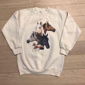 Vintage Horses Sweatshirt