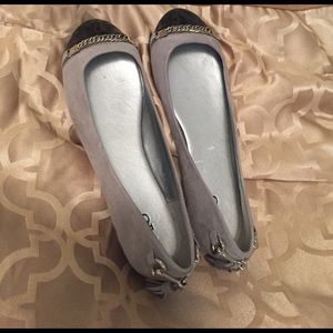 Grey and black flats!