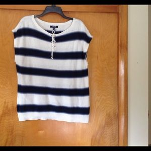 Chaps Sweaters - CHAPS cap sleeve striped sweater NWT