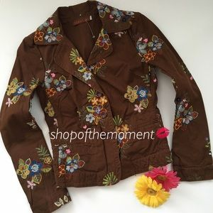 Johnny Was Jackets & Blazers - 🌻 Johnny Was JWLA Floral Embroidered Blazer