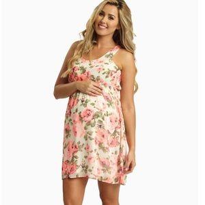 Pinkblush Dresses & Skirts - Pink blush neon floral chiffon dress