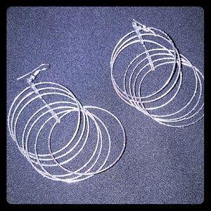 H&M Multi hoop dangle earrings