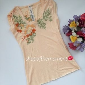 Johnny Was Tops - 💐Last One! JWLA Amour Reve Beaute Embroidered Tee