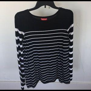Elle Tops - Elle black and white striped long sleeve