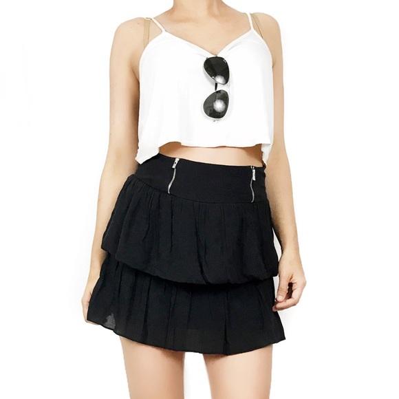 7e5237d1ee Sandro Skirts | Black Zipper Skirt | Poshmark