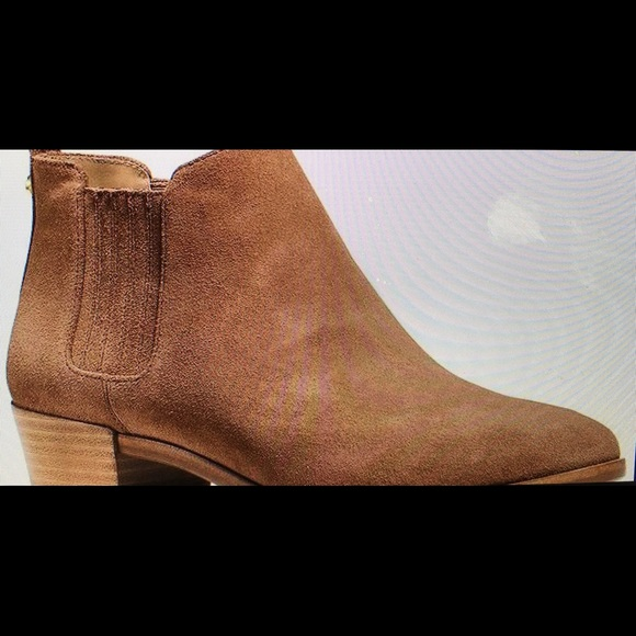 Michael Kors Tan Suede Shaw Ankle Boots