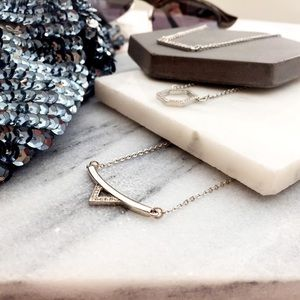 Pave Triangle Bar Necklace