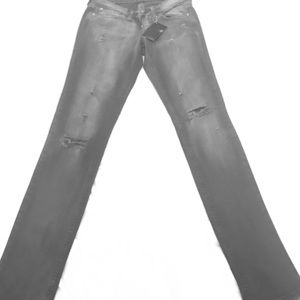 Domino Dollhouse Denim - Dominos Distressed Gray jeans