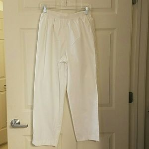 Alfred Dunner Pants - WOMENS PLUS SIZE 16 WHITE PANTS
