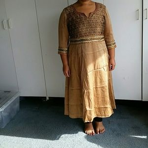 Dresses & Skirts - Indian 3 piece salwar set  dress L nwt