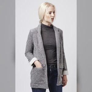 Topshop Jackets & Blazers - Topshop 6  gray boyfriend cotton blazer