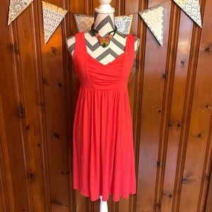 Mercer & Madison Dresses & Skirts - Bright Coral Mercer & Madison Empire Waist Dress
