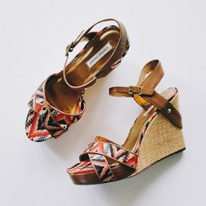 Cynthia Vincent Shoes - NWOB Cynthia Vincent Naomi Tribal Wedge Sandals