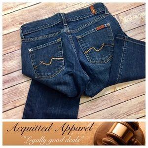 7 For All Mankind Denim - [7FAMK] 7 For All Mankind Dark Wash Jeans Bootcut