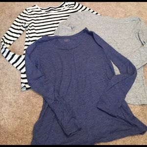 Loft Small long sleeve tee bundle