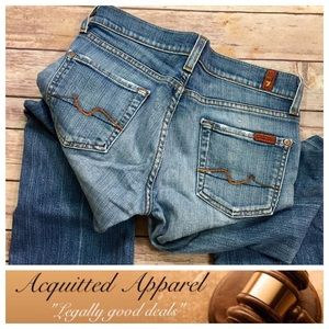 7 For All Mankind Denim - [7FAMK] 7 For All Mankind Bootcut Med Wash Jeans