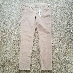 Maurices Tan Cord Flex Jeggings