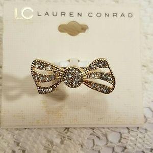 LC Lauren Conrad Gold Tone Bowl Ring