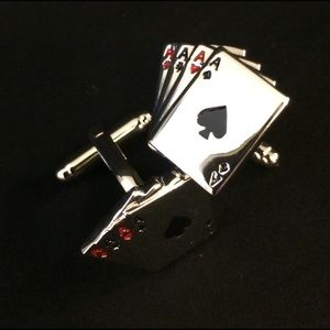 Other - ♠️♦️♣️♥️Playing Cards Poker Ace Silver Cuff Links