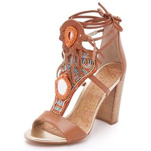 Sam Edelman Beaded Block Sandal