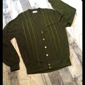 Men's Light Green Cardigan Sweater on Poshmark
