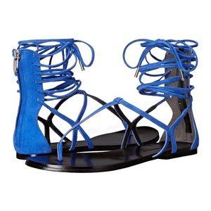 Sigerson Morrison Shoes - 🆕 Sigerson Morrison Suede Lace Up Sandal